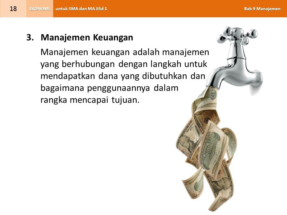 Manajemen Keuangan Manajemen keuangan adalah manajemen. yang berhubungan dengan langkah untuk. mendapatkan dana yang dibutuhkan dan.