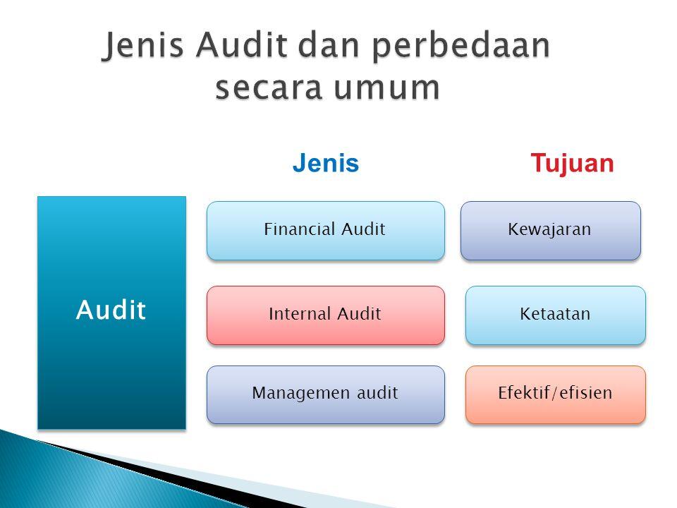 Jenis Audit dan perbedaan secara umum
