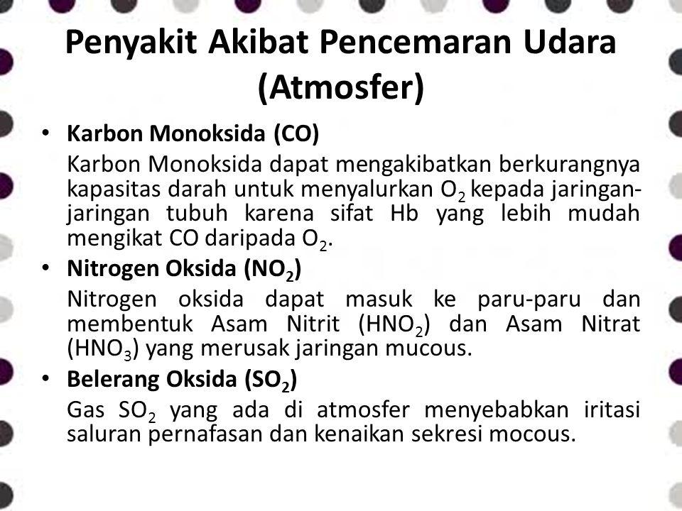 Penyakit Akibat Pencemaran Udara (Atmosfer)
