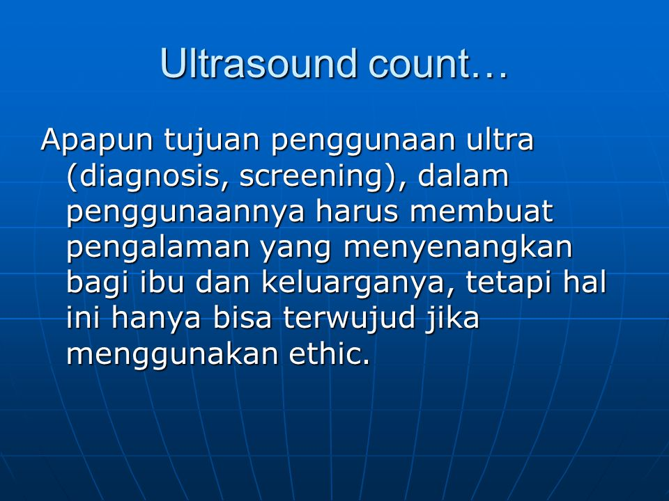 Ultrasound count…