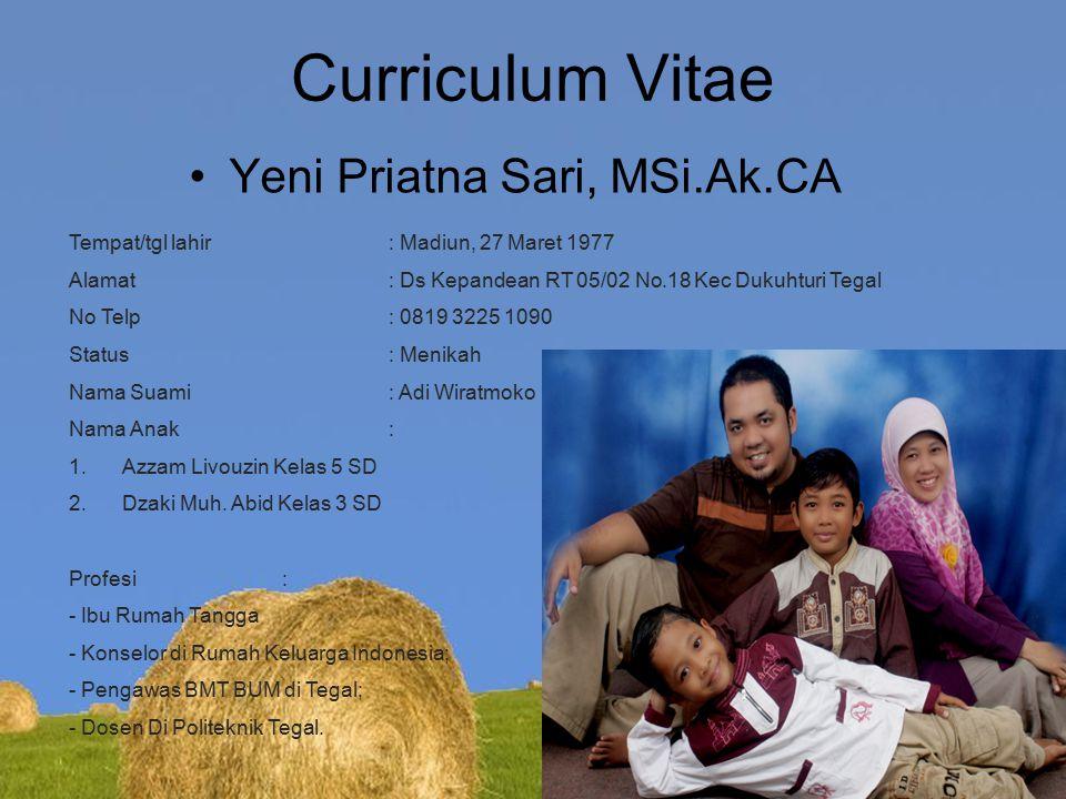 Curriculum Vitae Yeni Priatna Sari, MSi.Ak.CA