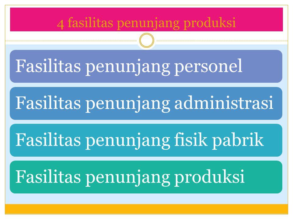 4 fasilitas penunjang produksi