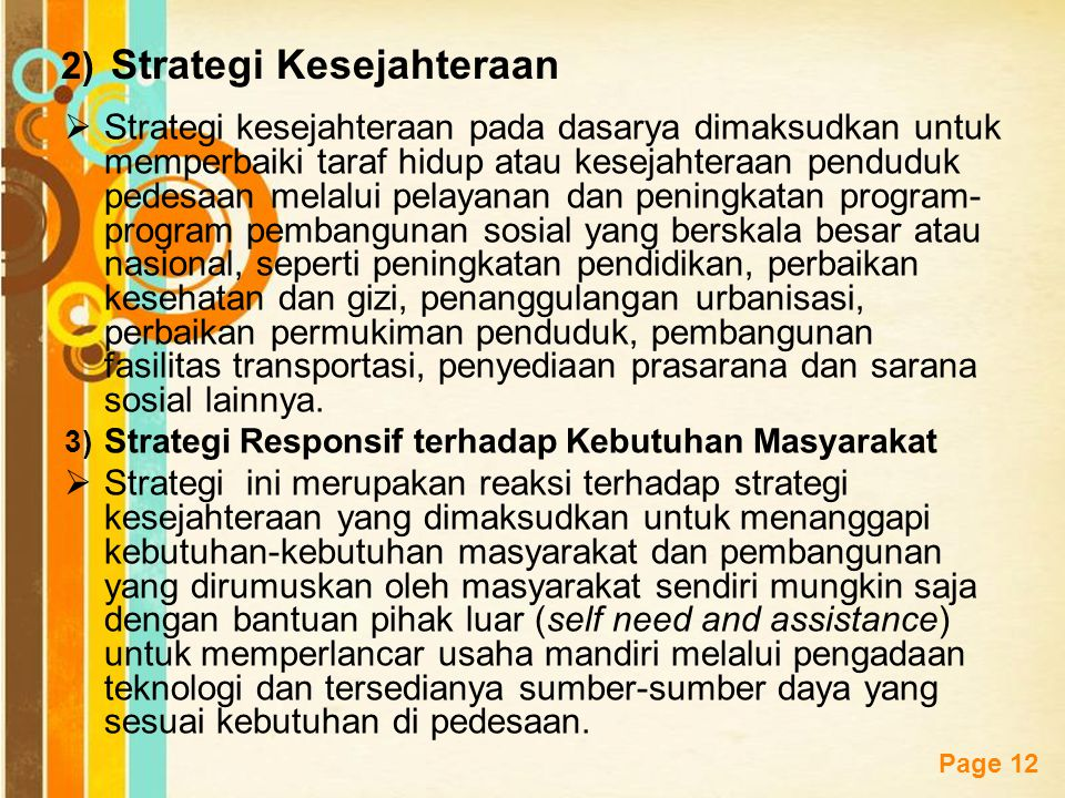 Strategi Kesejahteraan