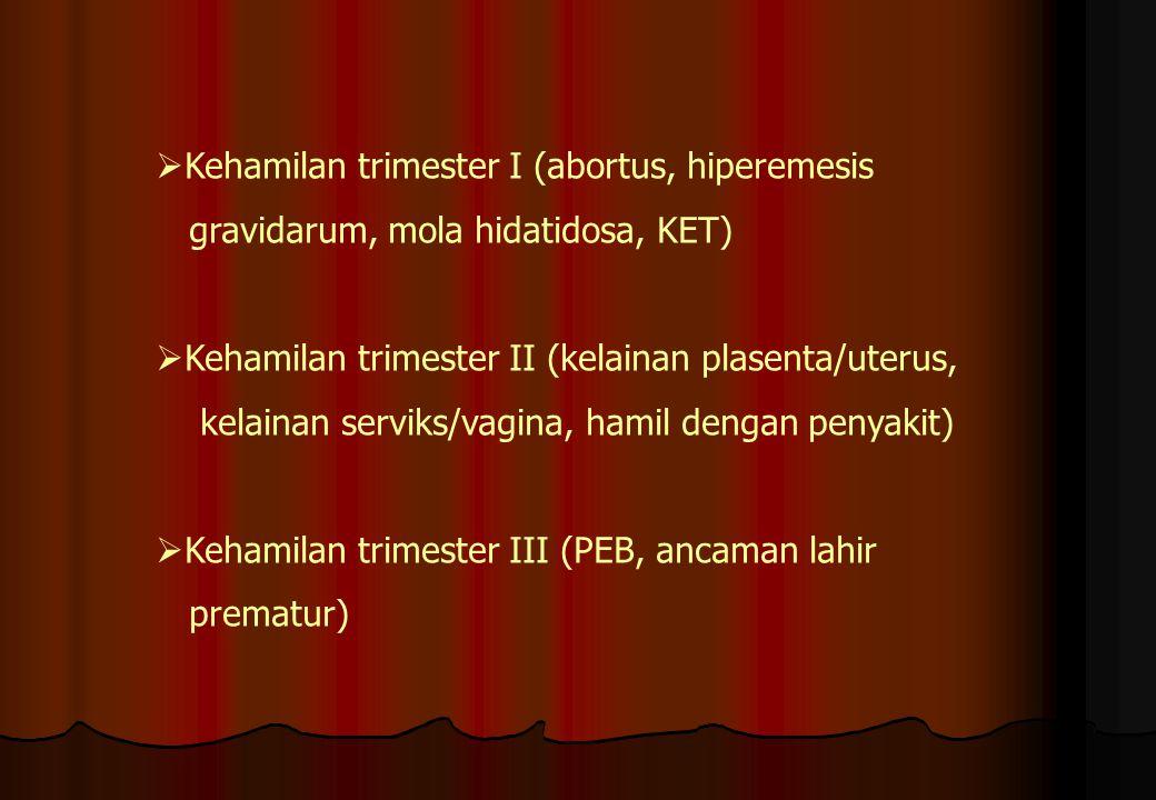 Kehamilan trimester I (abortus, hiperemesis