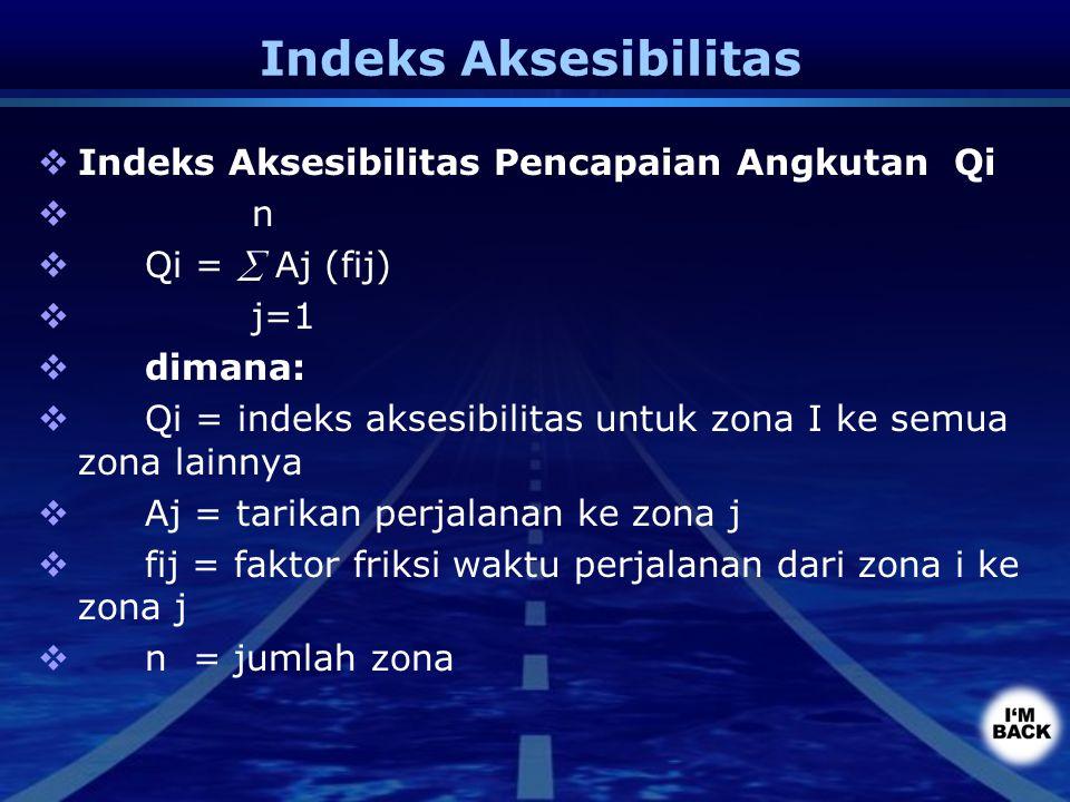 Indeks Aksesibilitas Indeks Aksesibilitas Pencapaian Angkutan Qi n