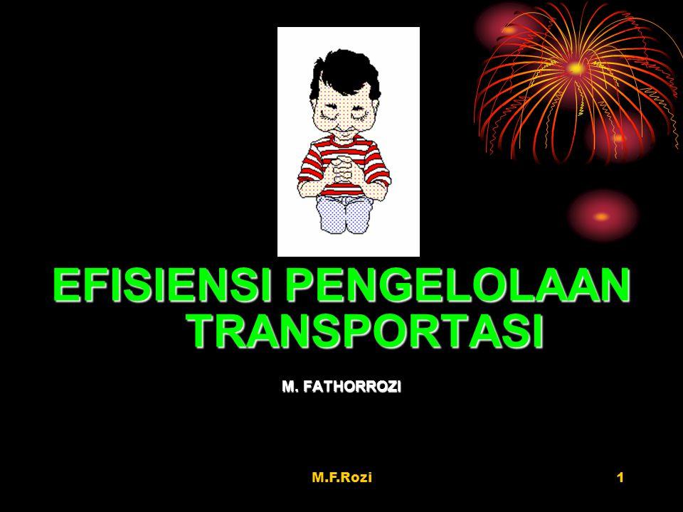 EFISIENSI PENGELOLAAN TRANSPORTASI
