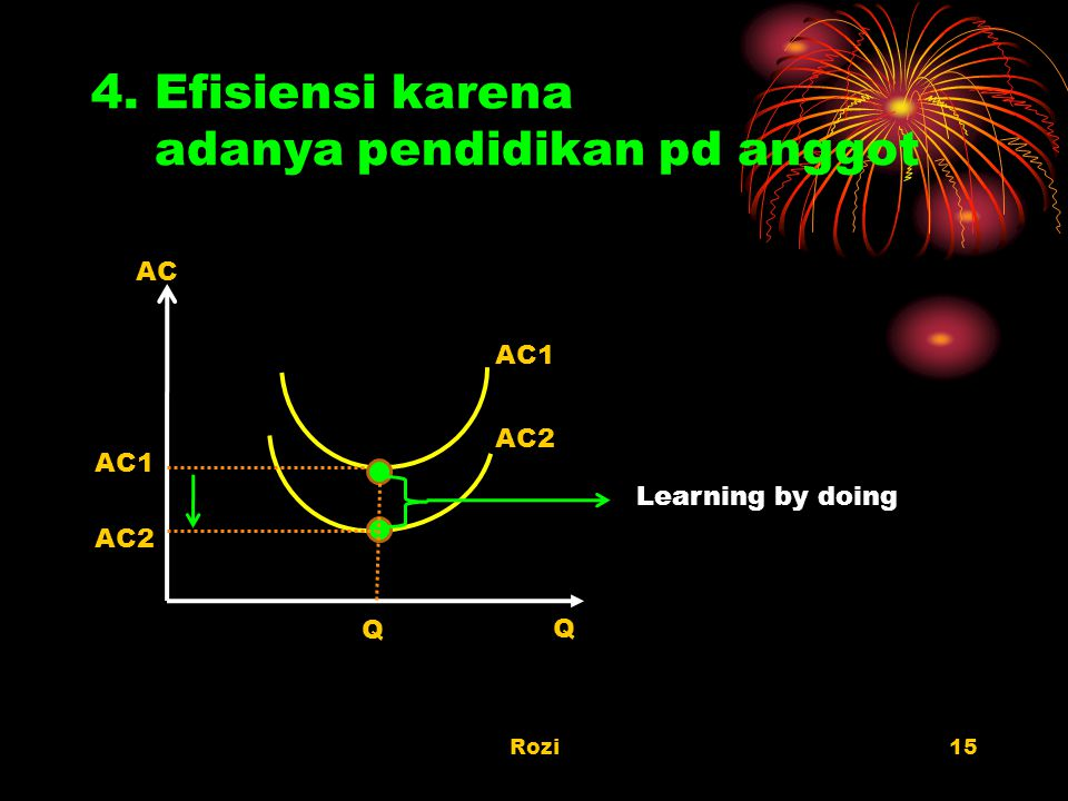 4. Efisiensi karena adanya pendidikan pd anggot