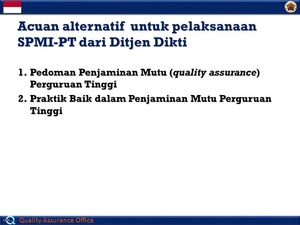 Acuan alternatif untuk pelaksanaan SPMI-PT dari Ditjen Dikti