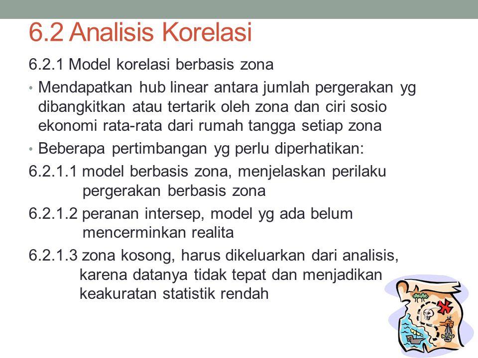 6.2 Analisis Korelasi 6.2.1 Model korelasi berbasis zona