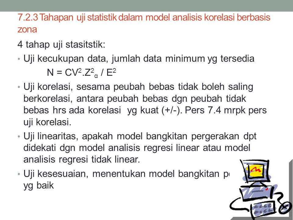 7.2.3 Tahapan uji statistik dalam model analisis korelasi berbasis zona