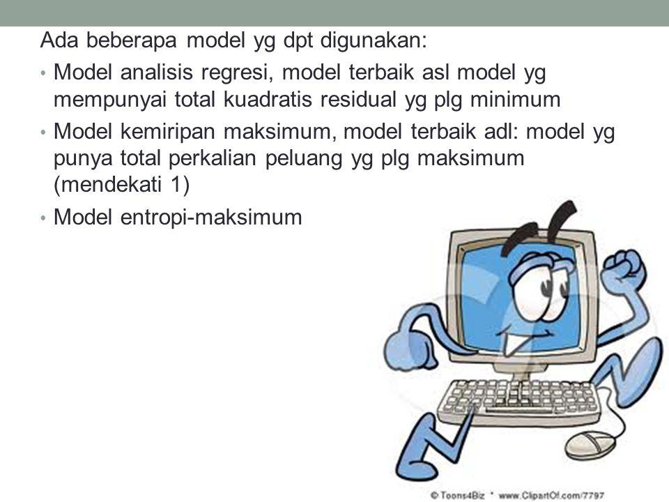 Ada beberapa model yg dpt digunakan: