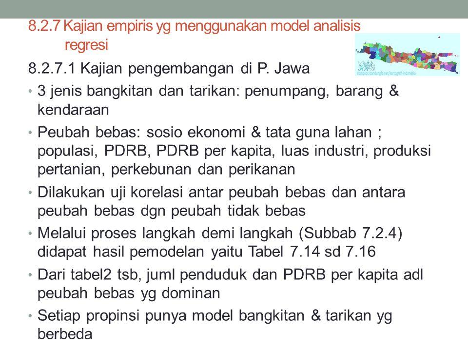 8.2.7 Kajian empiris yg menggunakan model analisis regresi