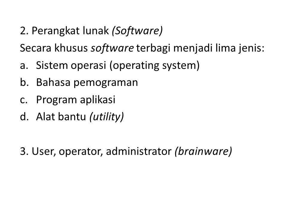2. Perangkat lunak (Software)