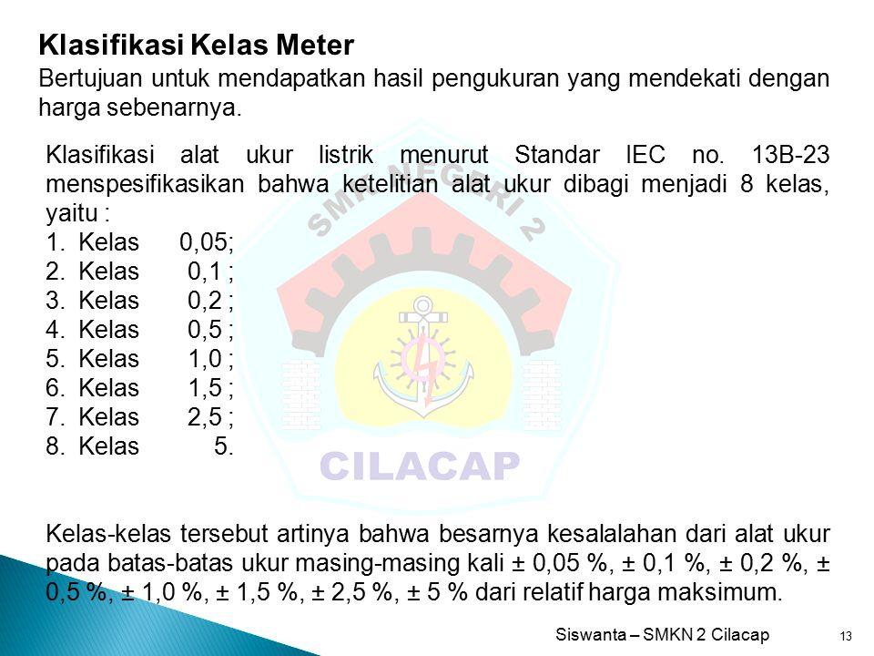 Klasifikasi Kelas Meter