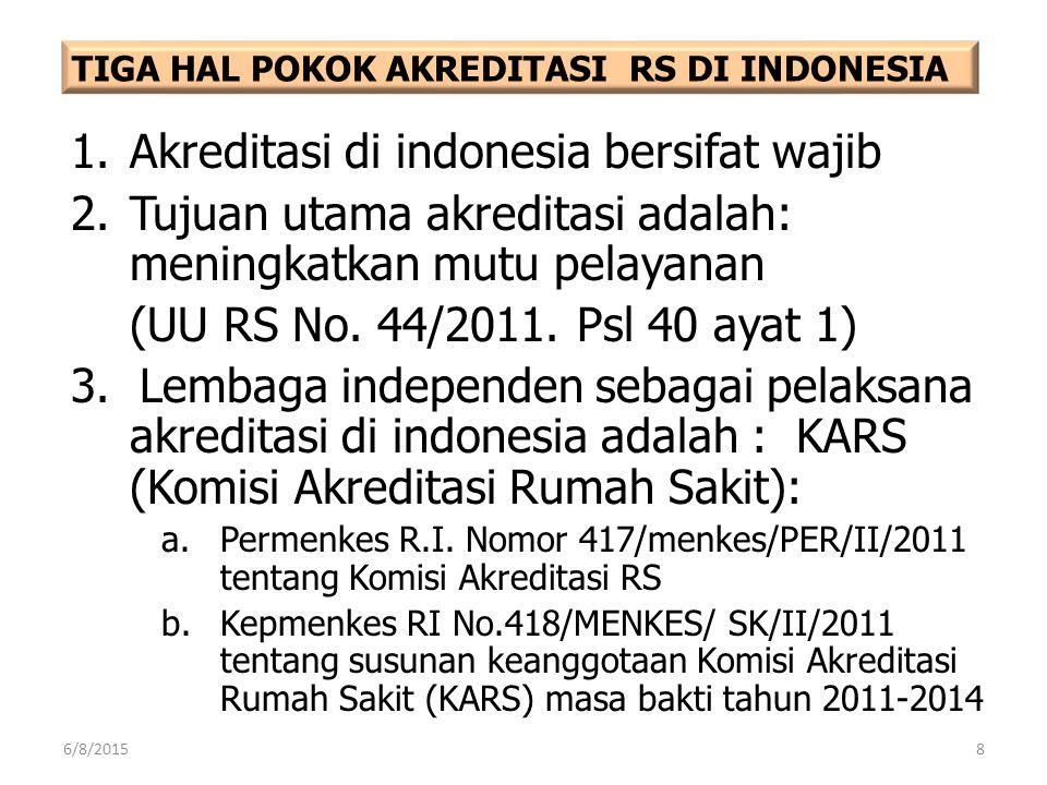 Akreditasi di indonesia bersifat wajib