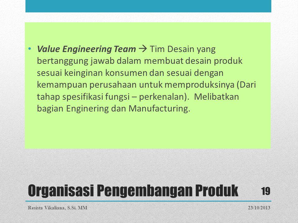 Organisasi Pengembangan Produk