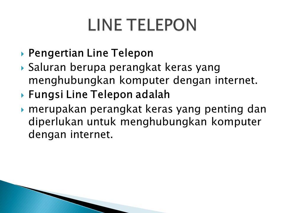 LINE TELEPON Pengertian Line Telepon