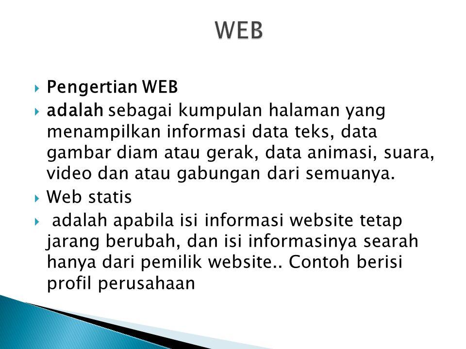 WEB Pengertian WEB.