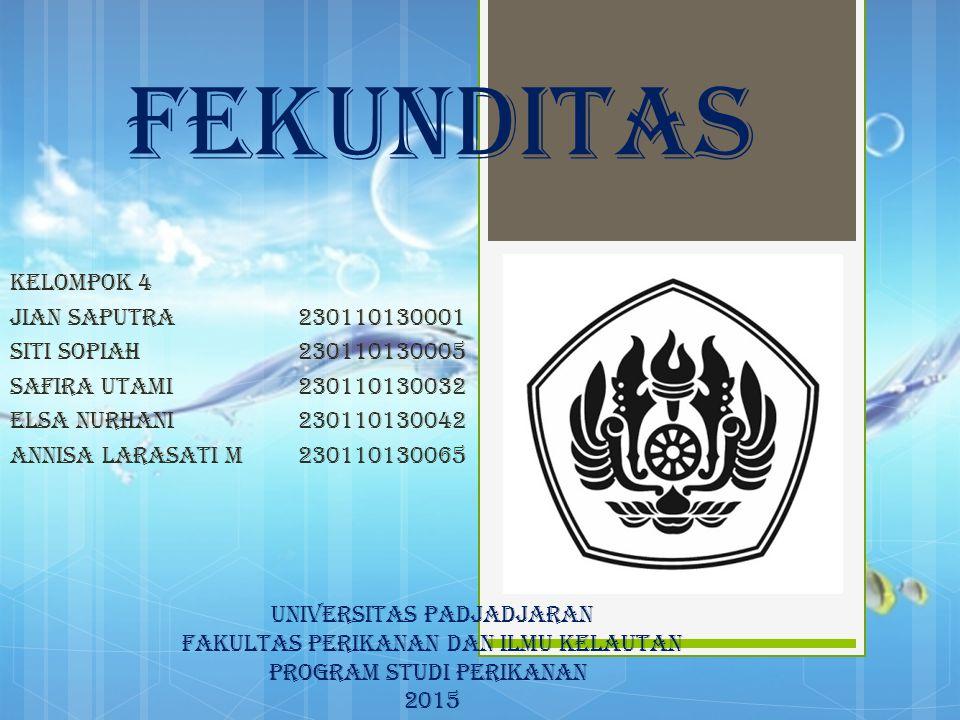 FEKUNDITAS KELOMPOK 4 Jian Saputra 230110130001