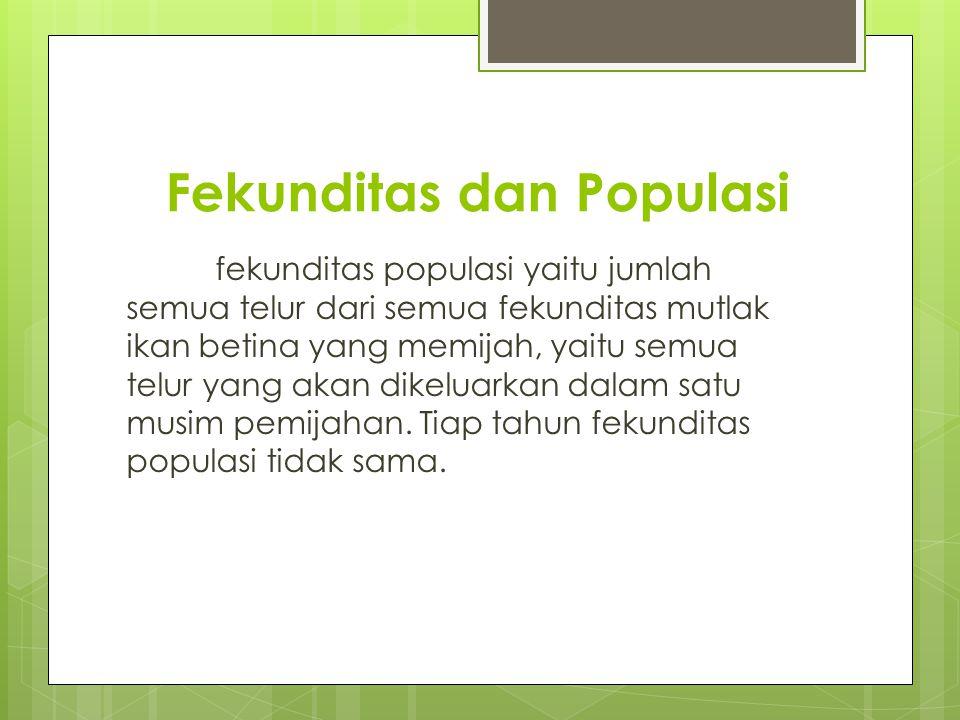 Fekunditas dan Populasi