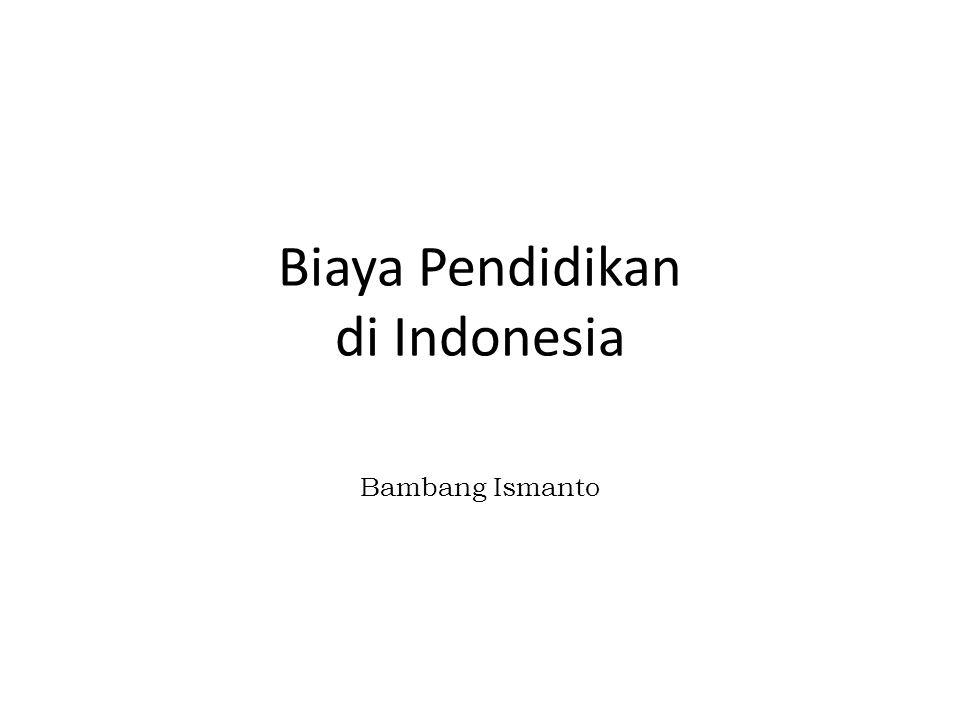 Biaya Pendidikan di Indonesia