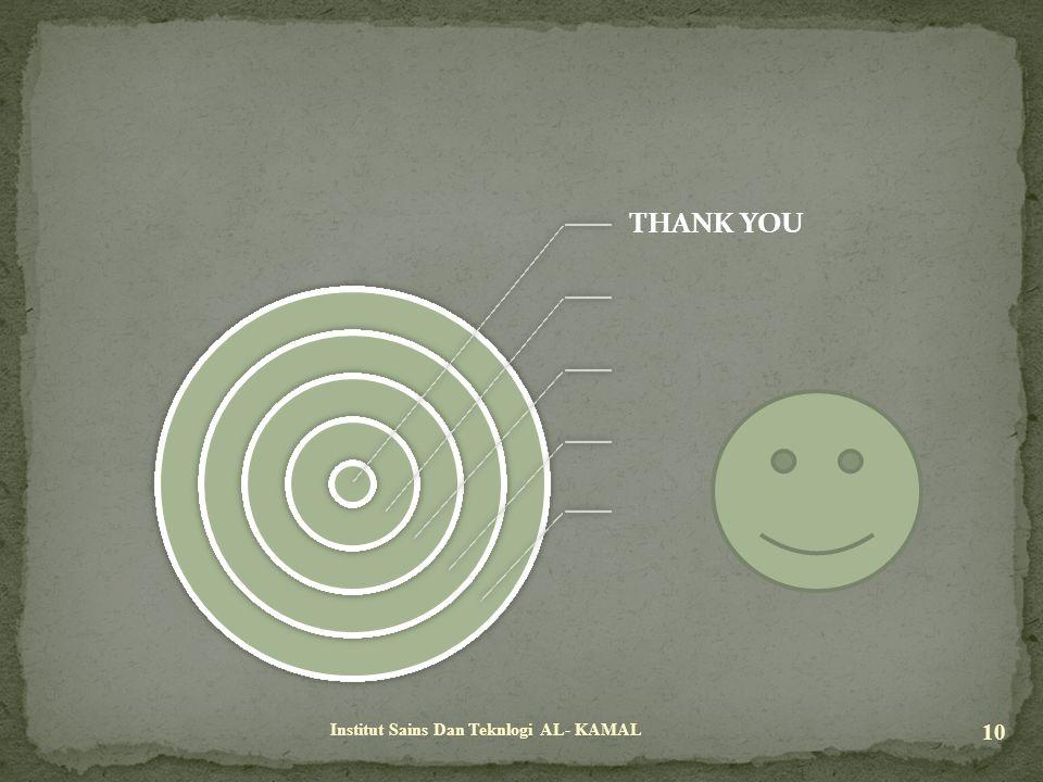 THANK YOU Institut Sains Dan Teknlogi AL- KAMAL
