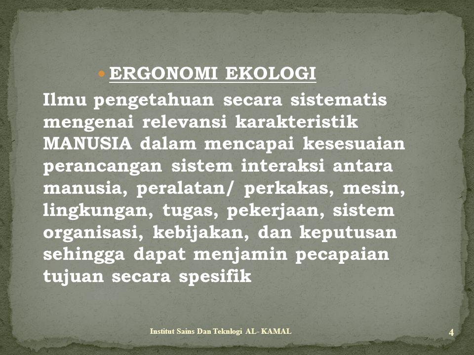 ERGONOMI EKOLOGI