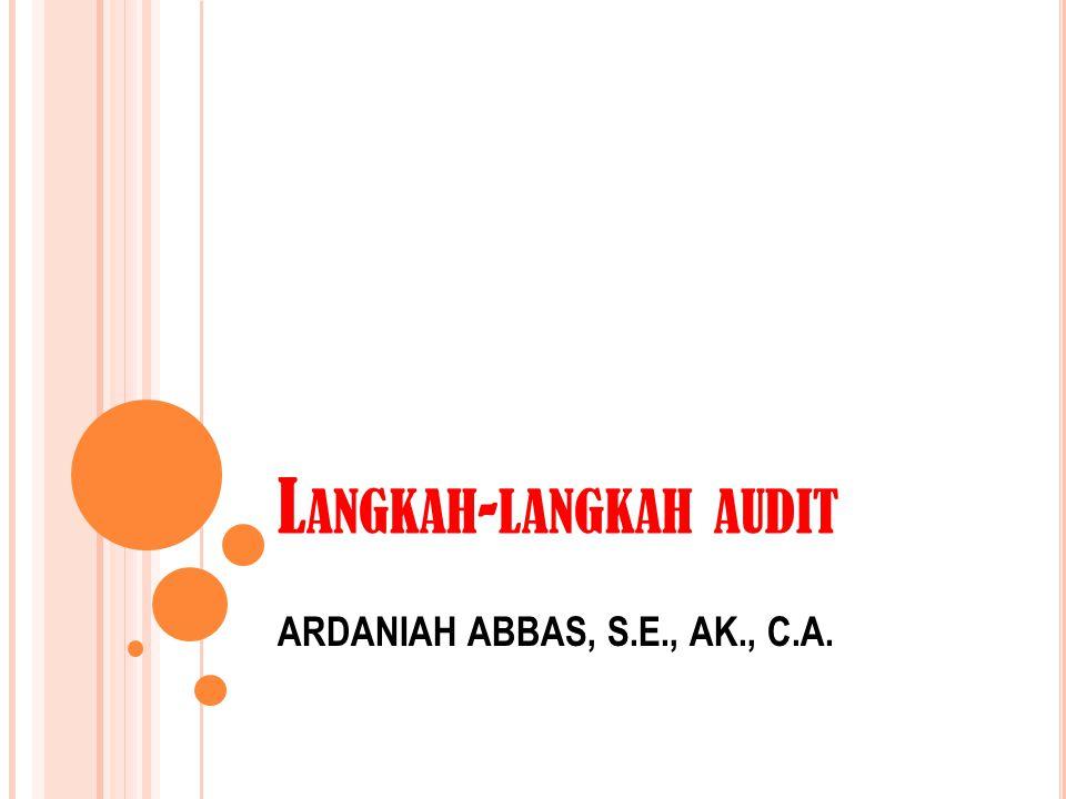 Langkah-langkah audit