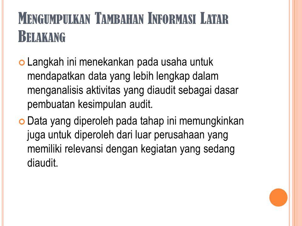 Mengumpulkan Tambahan Informasi Latar Belakang