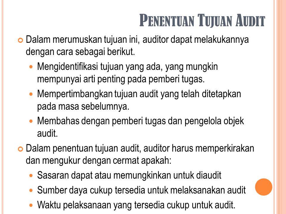 Penentuan Tujuan Audit