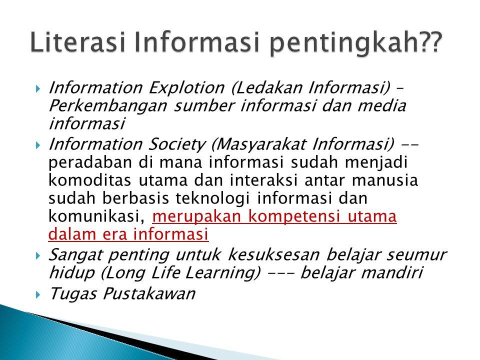 Literasi Informasi pentingkah