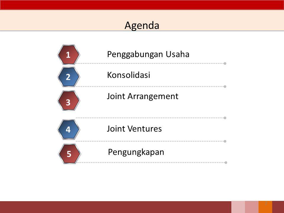 Agenda 1 Penggabungan Usaha Konsolidasi 2 Joint Arrangement 3