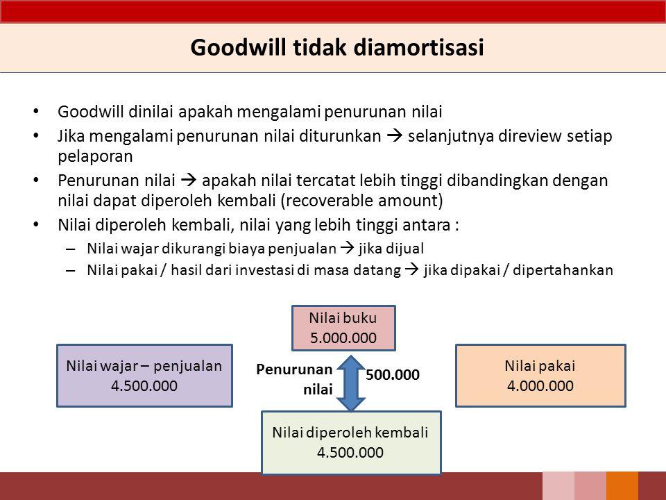 Goodwill tidak diamortisasi