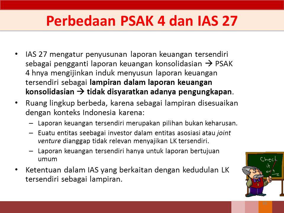 Perbedaan PSAK 4 dan IAS 27