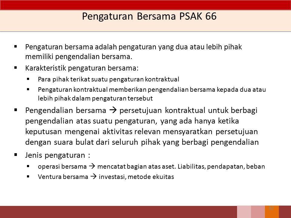 Pengaturan Bersama PSAK 66