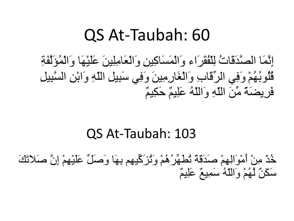 QS At-Taubah: 60 QS At-Taubah: 103