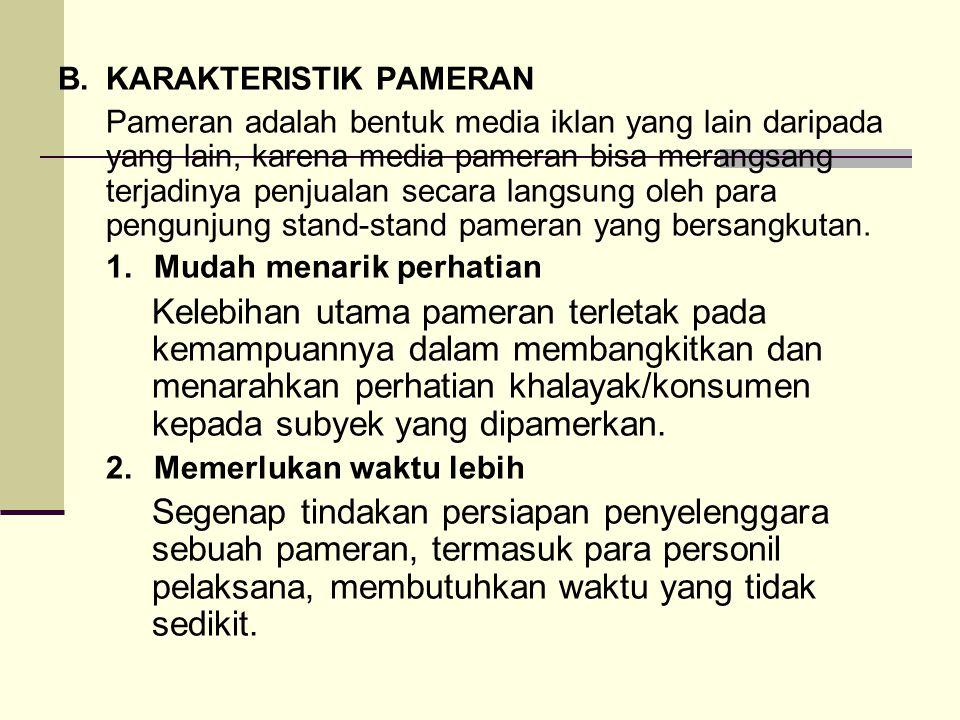 B. KARAKTERISTIK PAMERAN