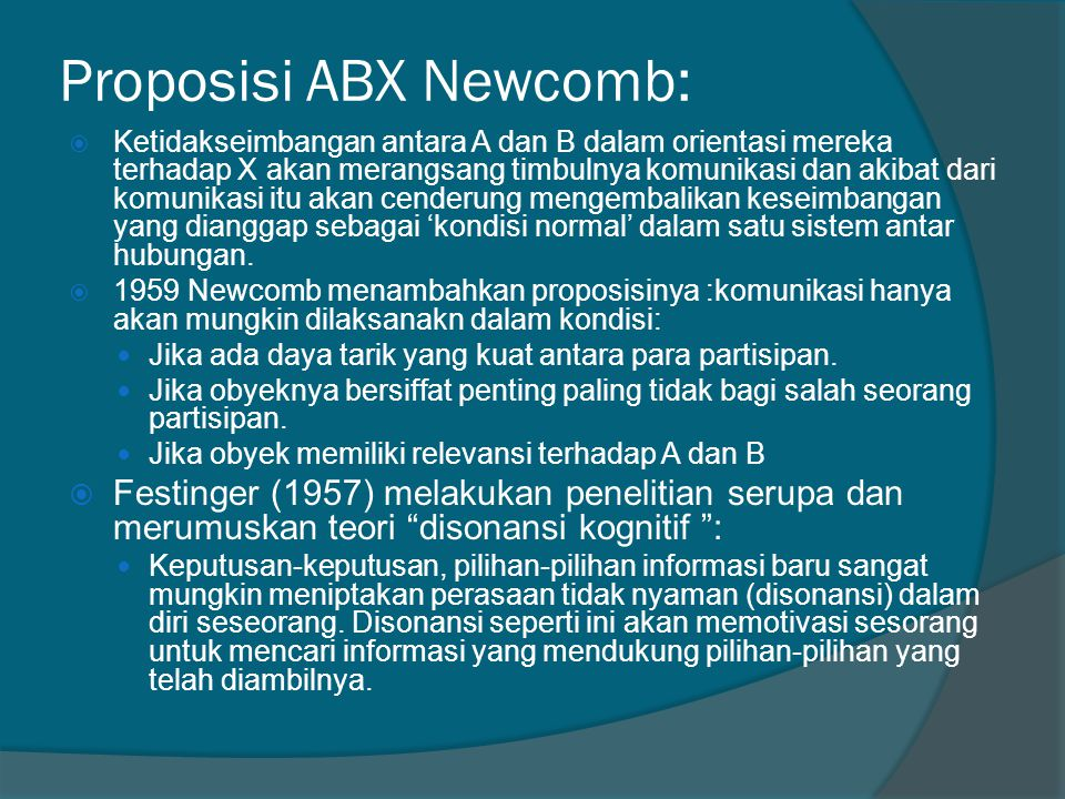 Proposisi ABX Newcomb: