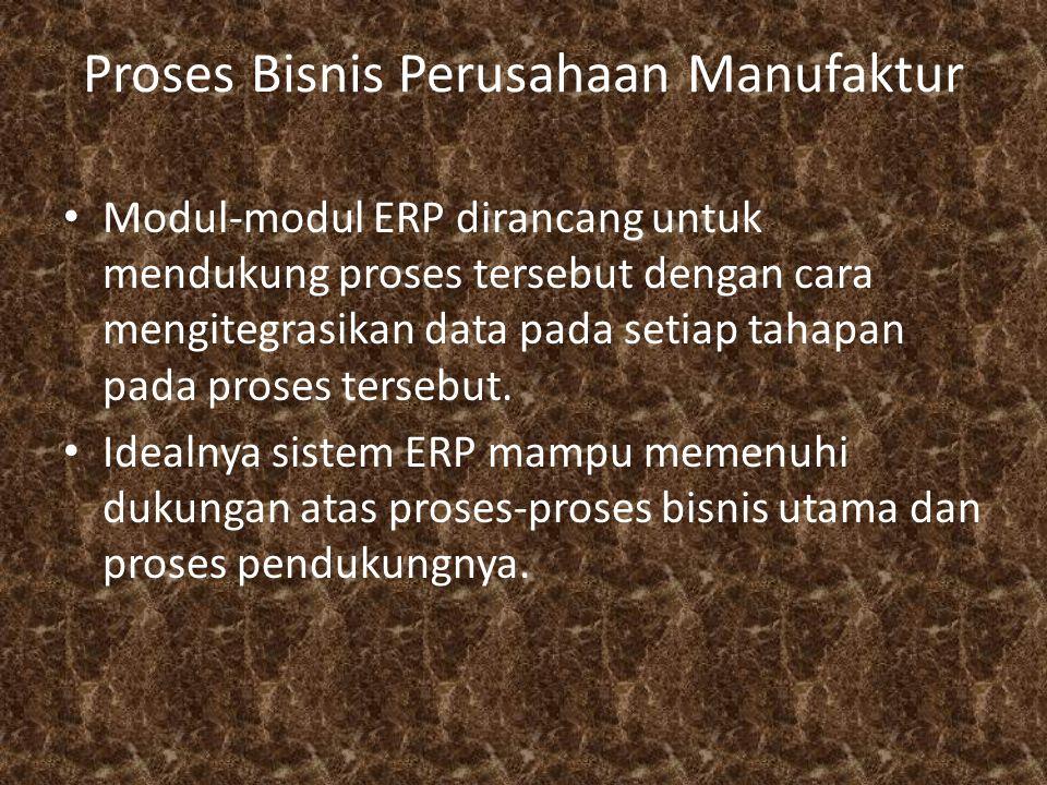 Proses Bisnis Perusahaan Manufaktur