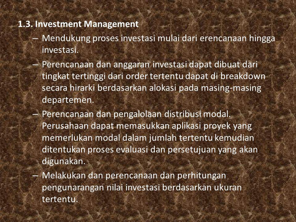 1.3. Investment Management