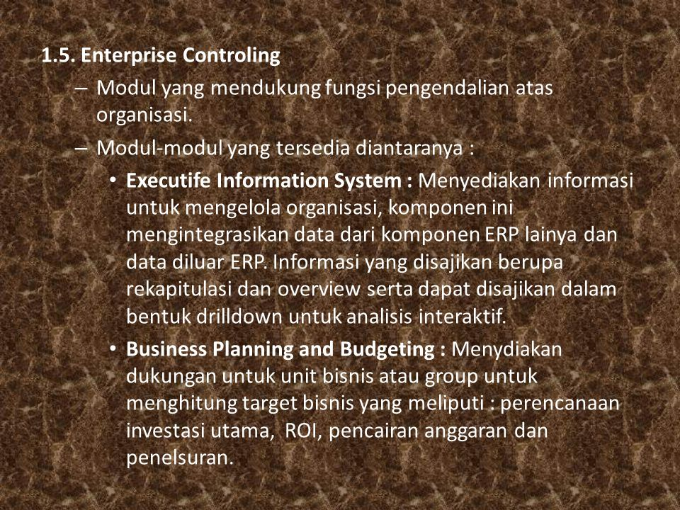 1.5. Enterprise Controling