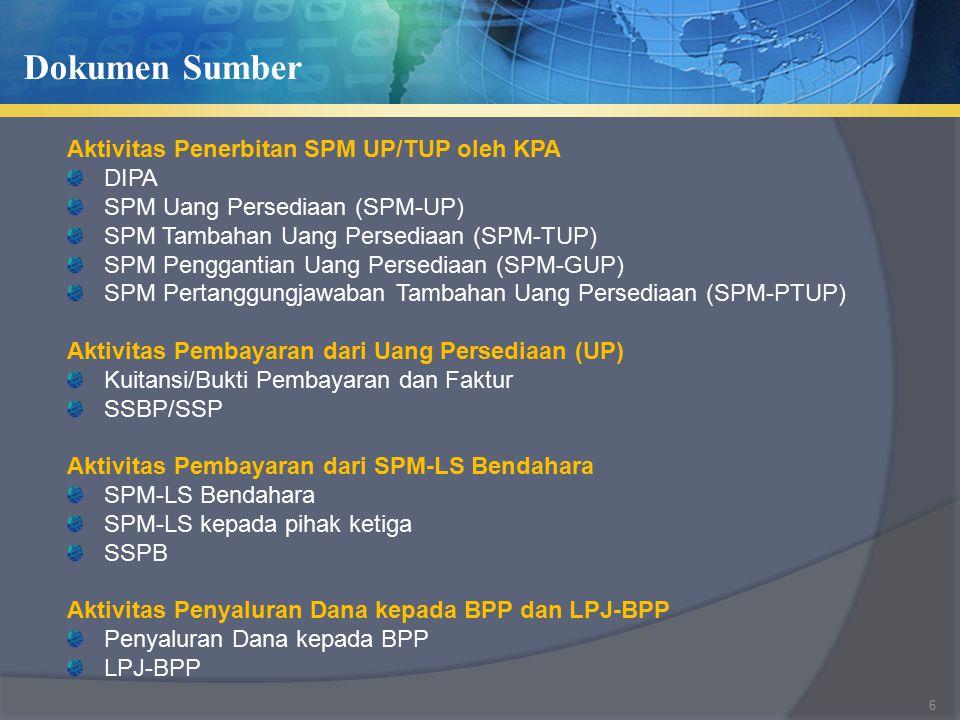 Dokumen Sumber Aktivitas Penerbitan SPM UP/TUP oleh KPA DIPA