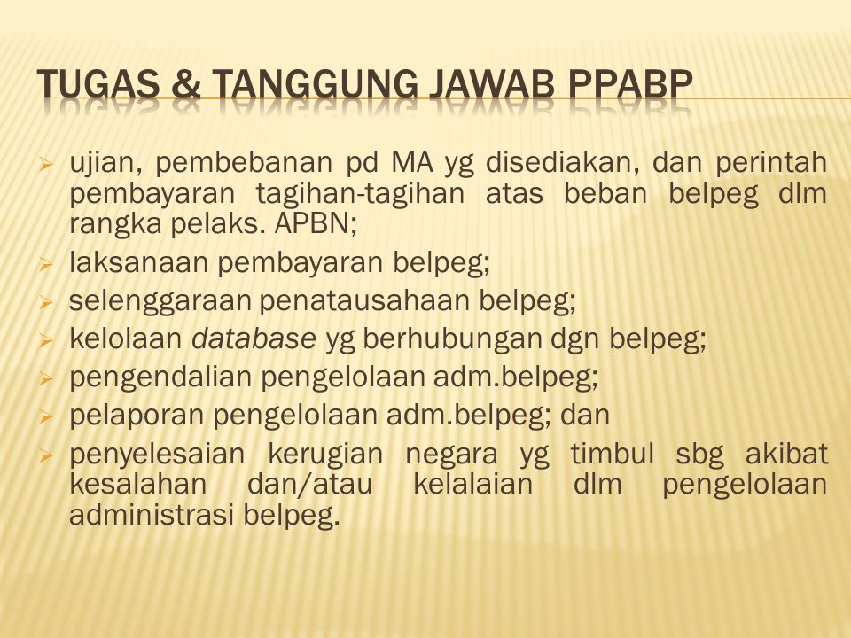 Tugas & TanGGung JaWaB PPABP