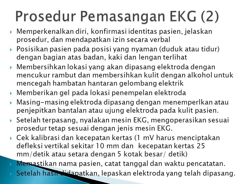 Prosedur Pemasangan EKG (2)
