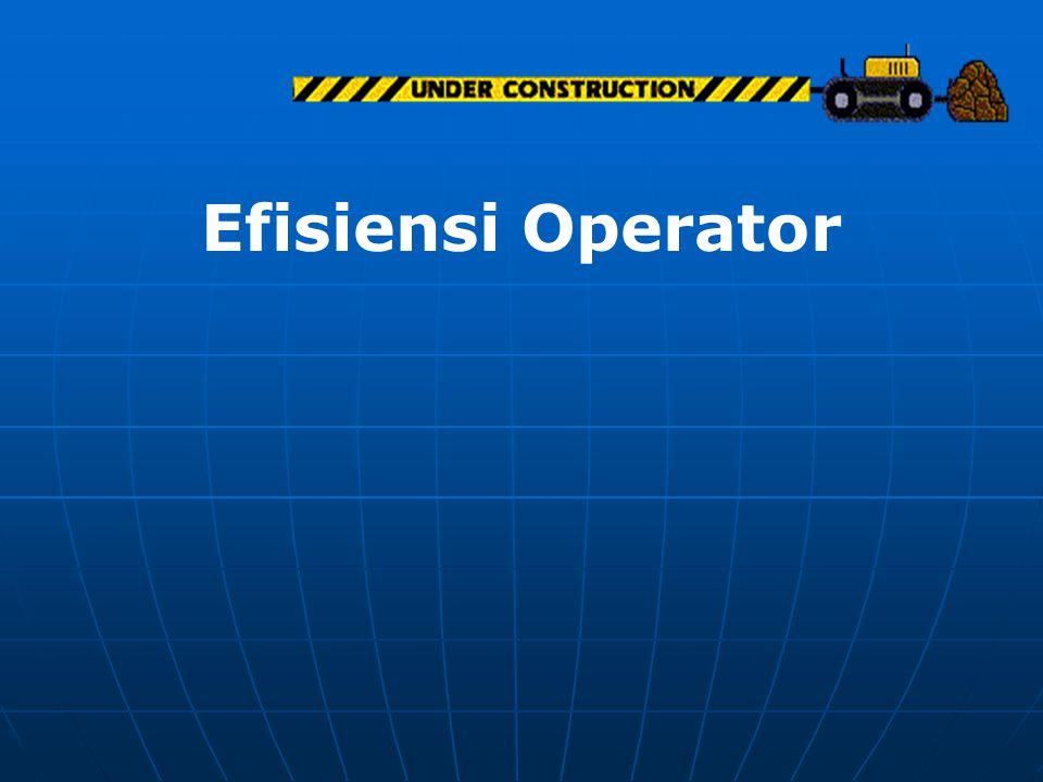 Efisiensi Operator