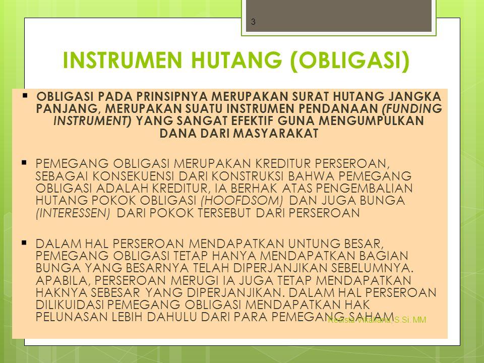 INSTRUMEN HUTANG (OBLIGASI)
