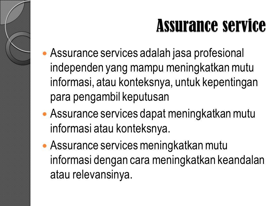 Assurance service
