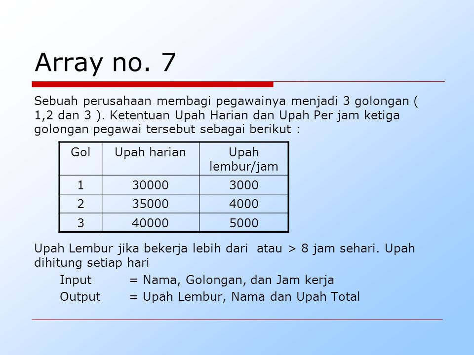 Array no. 7