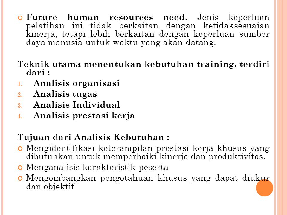 Future human resources need