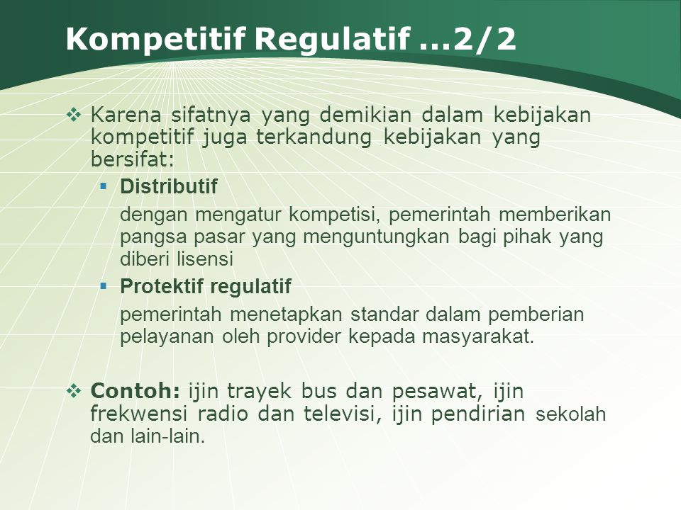 Kompetitif Regulatif ...2/2